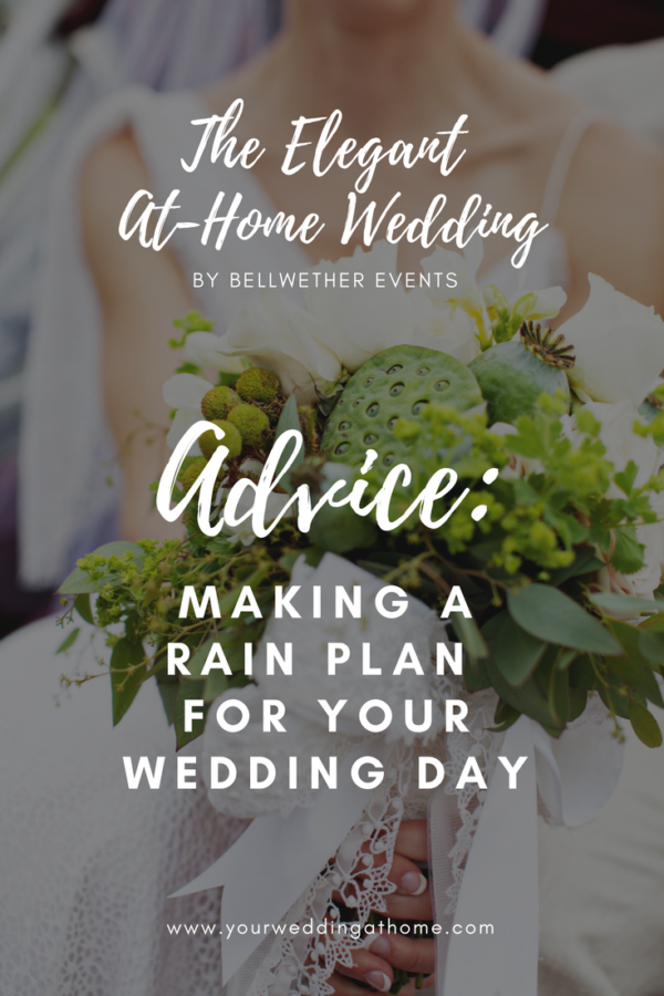 making a rain plan for your wedding