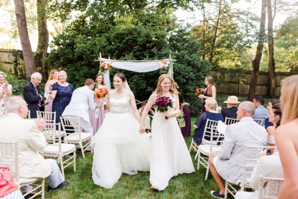 intimate virginia at home wedding - Jewish ceremony - chuppah